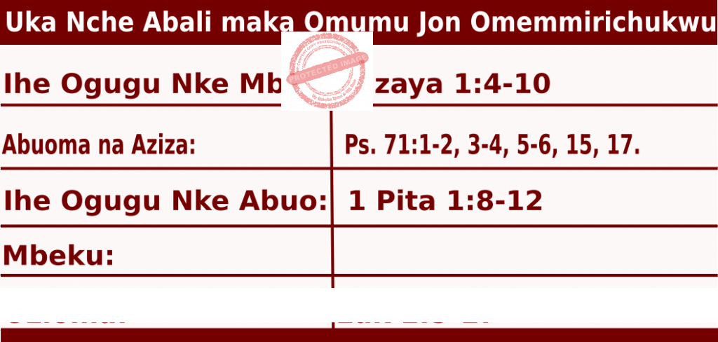 Image of Igbo Readings for Birth of John Vigil, June 23, 2020, Omumu Jon