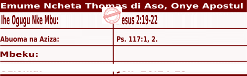Image of Igbo Readings for Ncheta Thomas di Aso, Onye Apostul, July 3, 2020,