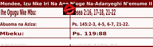 Image of Igbo Mass Readings for July 6, 2020, Mondee, Izu Nke Iri Na Ano N'oge Na-Adanyeghi N'emume