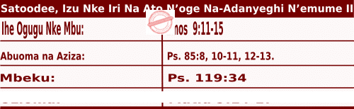 Image of Igbo Mass Readings for July 4, 2020, Satoodee, Izu Nke Iri Na Ato N'oge Na-Adanyeghi N'emume
