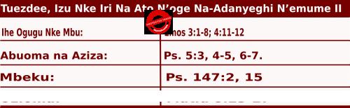 Image of Tuezdee, Izu Nke Iri Na Ato N'oge Na-Adanyeghi N'emume