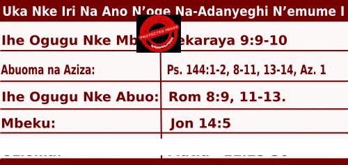 Image of Igbo Mass Readings for July 5, 2020, Uka Nke Iri Na Ano N'oge Na-Adanyeghi N'emume