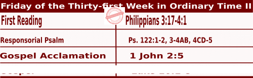 Mass Readings for November 6, 2020, Friday of the Thirty-first Week in Ordinary Time