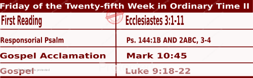 Image of Daily Readings for September 25, Friday of the Twenty-fifth Week in Ordinary Time