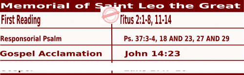 Mass Readings for November 10, 2020, Memorial of Saint Leo the Great, Pope and Doctor of the Church