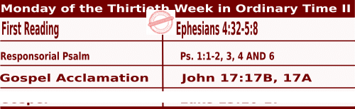 Mass Readings for October 26, 2020, Monday of the Thirtieth Week in Ordinary Time