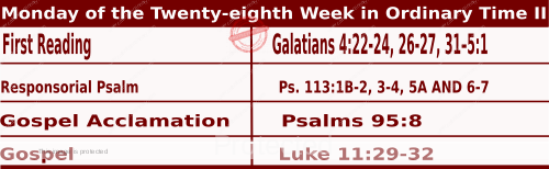 Mass Readings for October 12, 2020, Monday of the Twenty-eighth Week in Ordinary Time