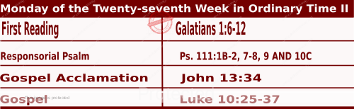 Mass Readings for October 5, 2020, Monday of the Twenty-seventh Week in Ordinary Time