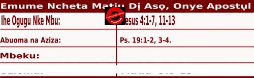 Bible Quotations for Igbo readings for September 21, Igbo Readings maka Emume Ncheta Matiu Dị Asọ, Onye Apostụl