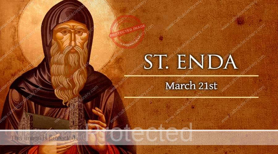 Saint of the day for march 21, Saint Enda Abbot
