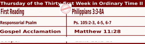 Mass Readings for November 5, 2020, Thursday of the Thirty-first Week in Ordinary Time