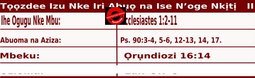 Bible Quotations for Igbo readings for September 24, Tọọzdee Izu Nke Iri Abụọ na Ise N'oge Nkịtị