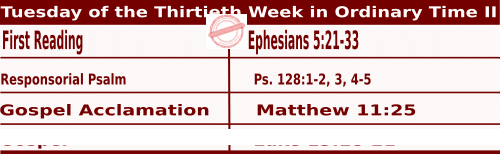 Mass Readings for October 27, 2020, Tuesday of the Thirtieth Week in Ordinary Time