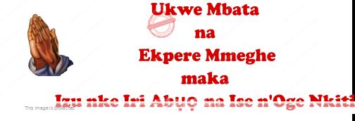 Ukwe Mbata na Ekpere Mmeghe maka Izu nke Iri Abuo na Ise n'OgeNkiti