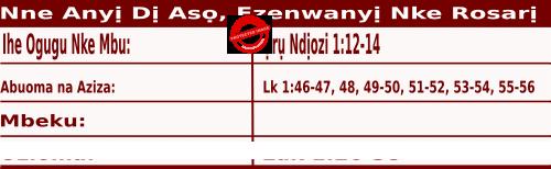 Igbo Mass Readings October 7 2020, Nne Anyị Dị Asọ,  Ezenwanyị Nke Rosarị.