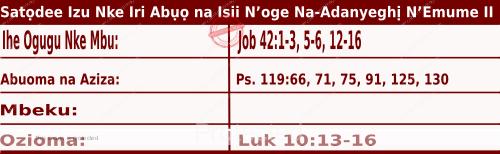 Igbo Mass Readings for October 3, 2020, Ncheta Teresa Obere Nwa Jesu Dị Asọ.