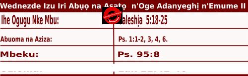 Igbo Mass Readings October 14 2020, Wednezdee Izu Iri Abụọ na Asatọ n'Oge Adanyeghị n'Emume.