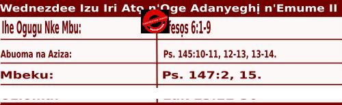 Igbo Mass Readings October 28 2020, Wednezdee Izu Iri Atọ n'Oge Adanyeghị n'Emume.