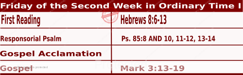 Mass Readings January 22 2021, Friday of the Second Week in Ordinary Time (I).