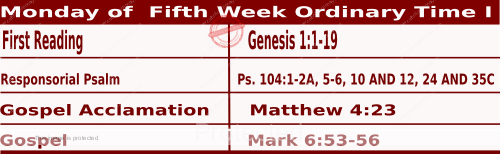 Mass Readings February 8 2021, Monday of the Fifth Week in Ordinary Time (I).