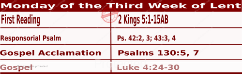 Mass Readings March 8 2021, Monday of the Third Week of Lent.