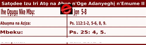 Igbo Mass Readings November 14 2020, Satọdee Izu Iri Atọ na Abụọ n'Oge Adanyeghị n'Emume.