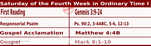 Mass Readings February 13 2021, Saturday of the Fifth Week in Ordinary Time (I).