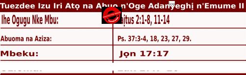 Igbo Mass Readings November 10 2020, Ncheta Leo Dị Asọ