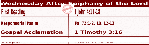 Mass Readings January 6 2021, Wednesday After Epiphany of the Lord.