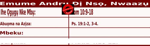 Igbo Mass Readings November 30 2020, Emume Andru Dị Nsọ, Nwaazụ.