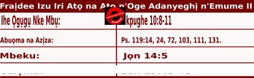 Igbo Mass Readings November 20 2020, Fraịdee Izu Iri Atọ na Atọ n'Oge Adanyeghị n'Emume.