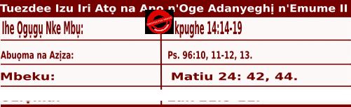 Igbo Mass Readings November 24 2020, Ncheta Andru Dunglac na Ndị Otu Ya.