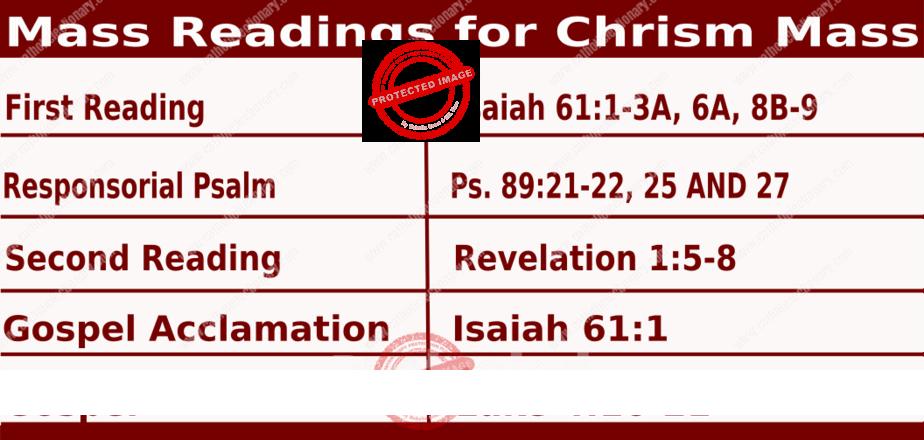 chrism mass readings 2021