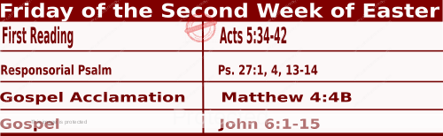 Catholic Daily Mass Readings for April 16 2021, Friday of the Second Week of Easter.