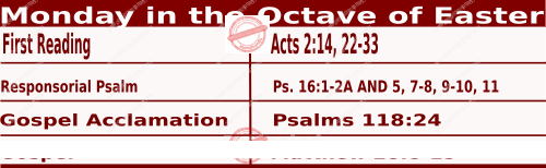 Catholic Daily Mass Readings for Easter Monday - Mass Readings April 5 2021 - Monday in the Octave of Easter