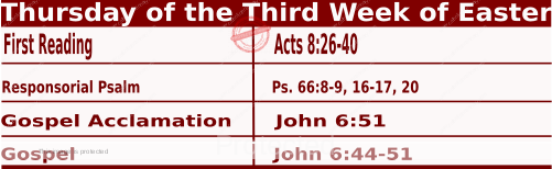Catholic Daily Mass Readings for April 22 2021, Thursday of the Third Week of Easter.