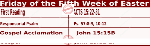 Catholic Daily Mass Readings for May 7 2021, Friday of the Fifth Week of Easter