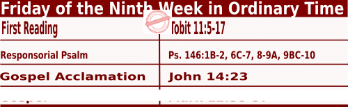 Catholic Daily Mass Readings for June 4 2021, Friday of the Ninth Week in Ordinary Time