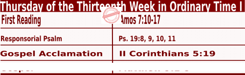 Catholic Daily Mass Readings for June 30 2022, Thursday of the Thirteenth Week in Ordinary Time