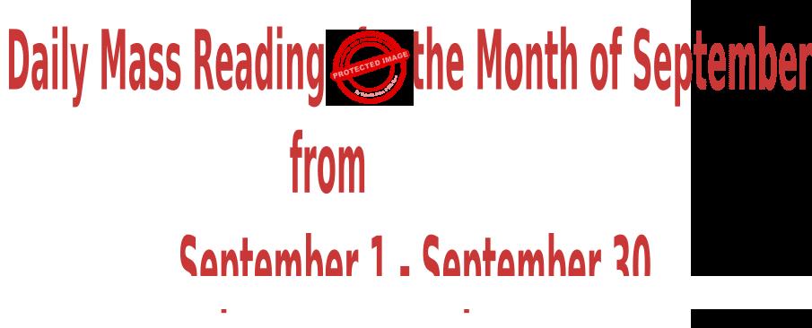 Catholic Daily Mass Readings for September 2021