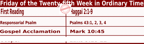 Bible quotations in Mass Readings for September 24 2021