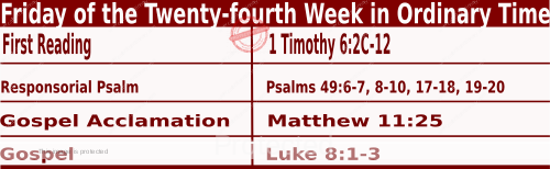 Bible quotations in Mass Readings for September 17 2021, Friday of the Twenty-fourth Week in Ordinary Time - Catholic Readings for today September 17 2021
