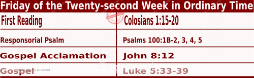 Bible quotations in Mass Readings for September 3 2021, Friday of the Twenty-second Week in Ordinary Time