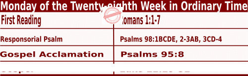 Bible quotations in Mass Readings for October 11 2021
