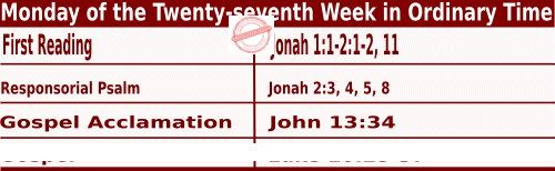 Bible quotations in Mass Readings for October 4 2021