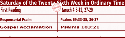 Bible quotations in Mass Readings for October 2 2021