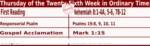 Bible quotations in Mass Readings for September 30 2021