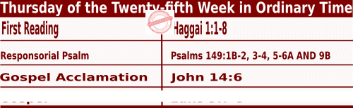 Bible quotations in Mass Readings for September 23 2021