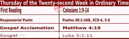 Bible quotations in Mass Readings for September 2 2021, Thursday of the Twenty-second Week in Ordinary Time