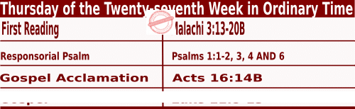 Bible quotations in Mass Readings for October 7 2021